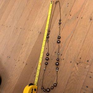 Jcrew Long chain metallic beaded necklace
